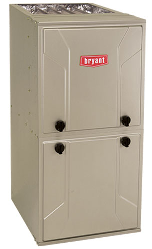 Beige Bryant furnace unit