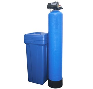 Water softener tank and salt bin